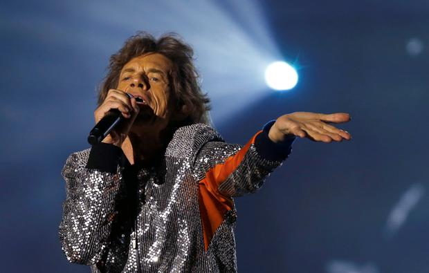Mick Jagger of the Rolling Stones performs during the band's first concert of the 'No Filter' European tour, at the Stadtpark in Hamburg, Germany