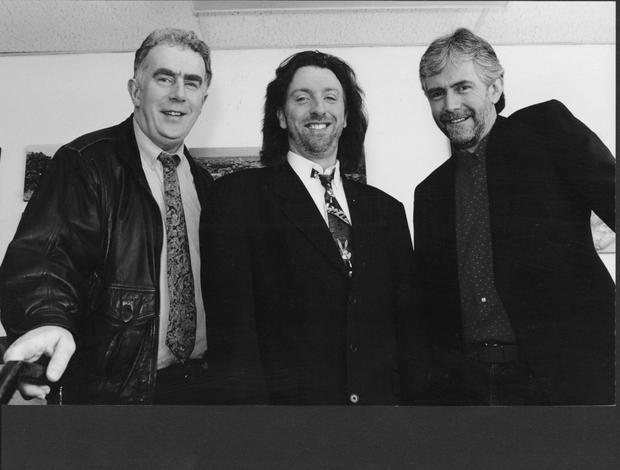 Composer Brendan Graham with Paul Harrington and Charlie McGettigan