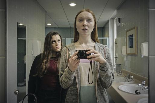 Back in the spotlight: Anna, played by writer Eva O'Connor (left), and Imogen (Michelle Fox) star in new series Overshadowed about a teenage girl with anorexia. Photo: BBC/Rollem Productions/Andrew Bo