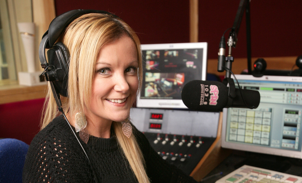 Keeping her distance: Nikki Hayes was drawn to a career in radio where she could hide behind the microphone