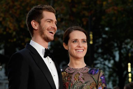 Claire Foy with 'Breathe' co-star Andrew Garfield