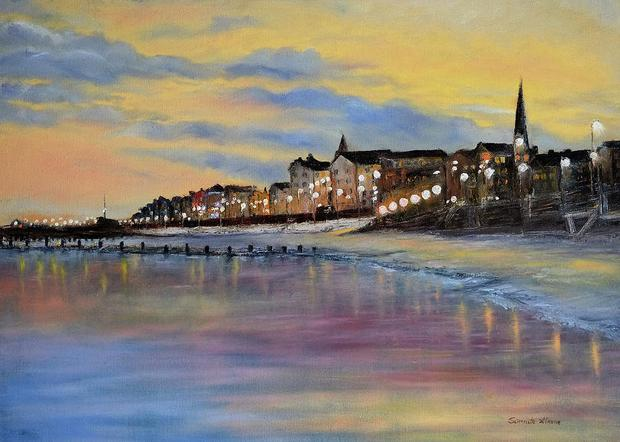 Bridlington Seaside Dusk by Sarmite Alksne