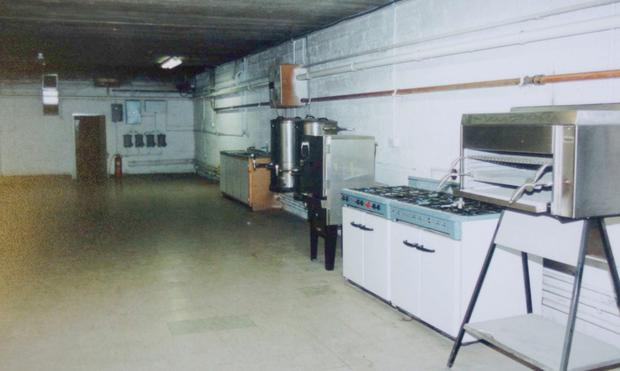 The cooking facilities, which would have been equipped for up to 30 days