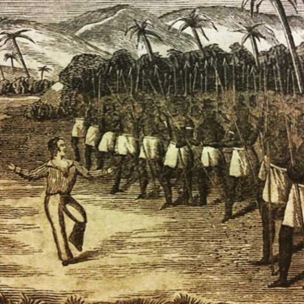 Irish jig: O'Connell dancing to appease the natives of Pohnpei to save his own skin