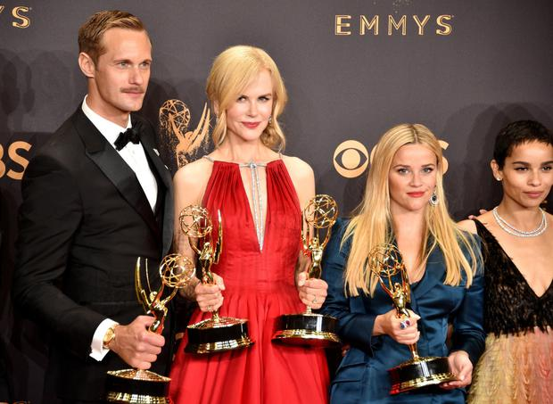 Blonde ambition: Big Little Lies co-stars Nicole Kidman (left) and Reese Witherspoon