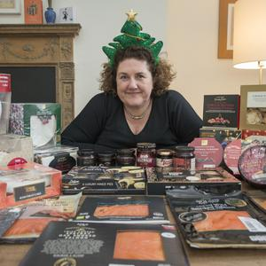 Taste test: Katy McGuinness with a selection of Christmas snacks and treats