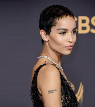 Zoe Kravitz attends the 69th Annual Primetime Emmy Awards