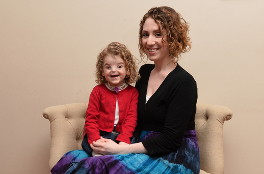 Tough decision: Grainne Evans says getting a nose implant for her daughter Tessa was a difficult choice to make. Photo: COLM LENAGHAN/PACEMAKER