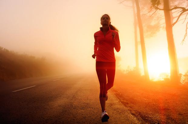Rise and shine: Exercising early means you feel the benefits for the rest of the day. Stock Image
