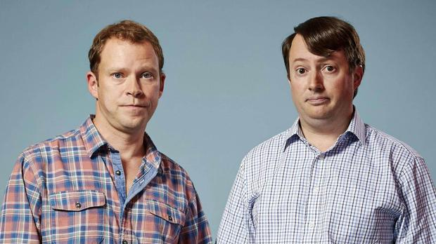 Actors, Robert Webb and David Mitchell