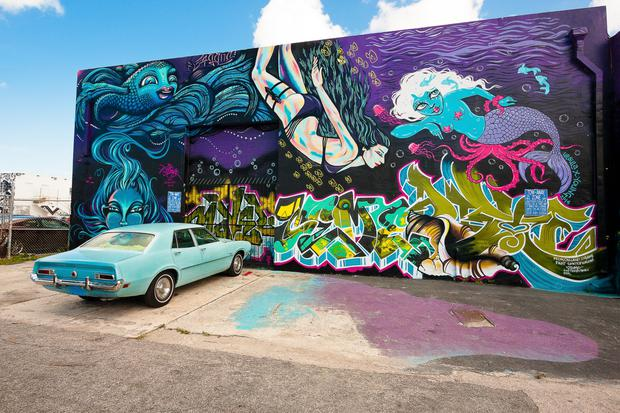 The Wynwood Walls are now a hipster landmark in Miami