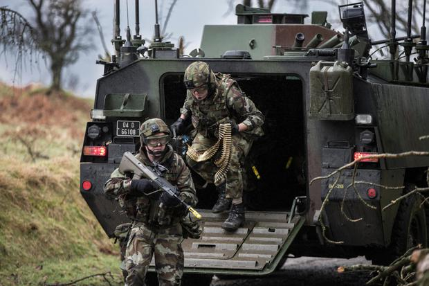Members of the 55th Infantry Group pictured during a training excercise last March in preparation for a UN deployment. Photo:Mark Condren