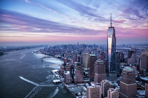 The Manhattan skyline is dominated by the One World Trade Centre tower where a visit to the 9-11 museum on Ground Zero is highly recommended Manhatten