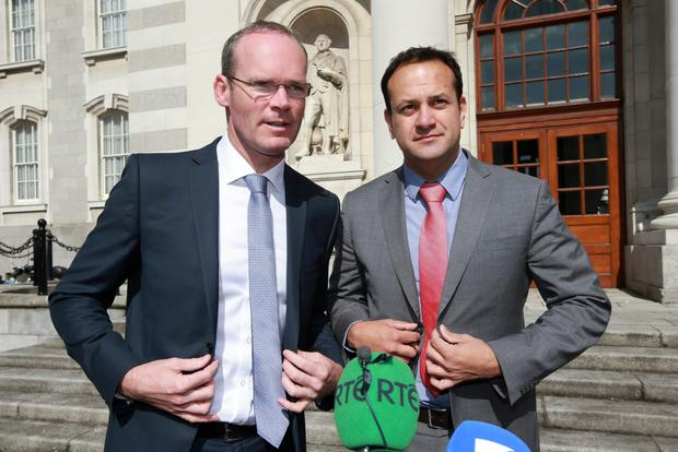 Contenders: Simon Coveney with Leo Varadkar were front runners to succeed Enda Kenny more than a year before he stood down. Photo: Frank Mc Grath