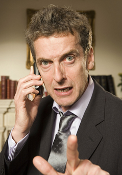Swearing is in: Peter Capaldi in The Thick Of It would approve of the increase in cursing in the workplace