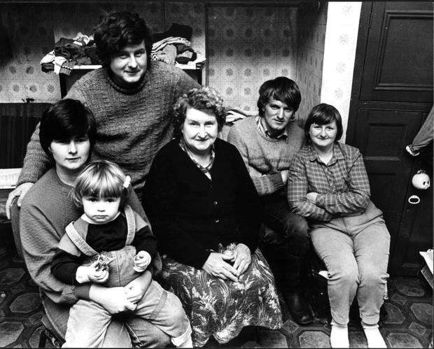 Joanne Hayes (far left) with members of her family