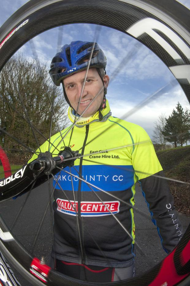 Cork County Cycling Club member Gearóid Moore pictured in Carrigtwohill, Co Cork