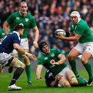On the ball: Rory Best in action during the RBS Six Nations match between Scotland and Ireland last year.