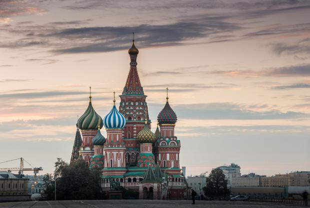 St Basil's Cathedral and Red Square in the dawn
