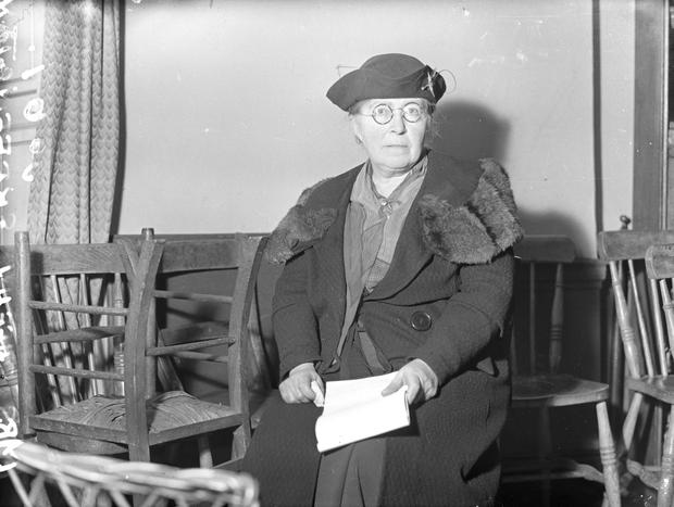 Militant action: Hanna Sheehy-Skeffington smashed windows at Dublin Castle as part of an escalation in the suffrage campaign. Photo: Misc Box 10 NPA archive