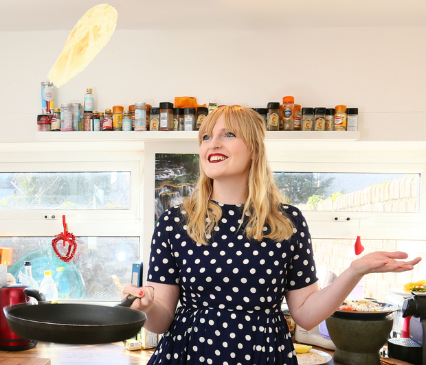 Sophie White flips the perfect pancake
