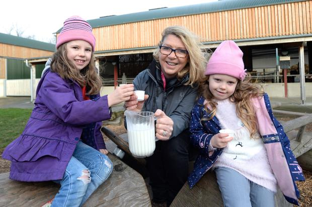 Milky way: Lois Caffrey and Head Tour Guide Irene McGrane at Airfield Farm