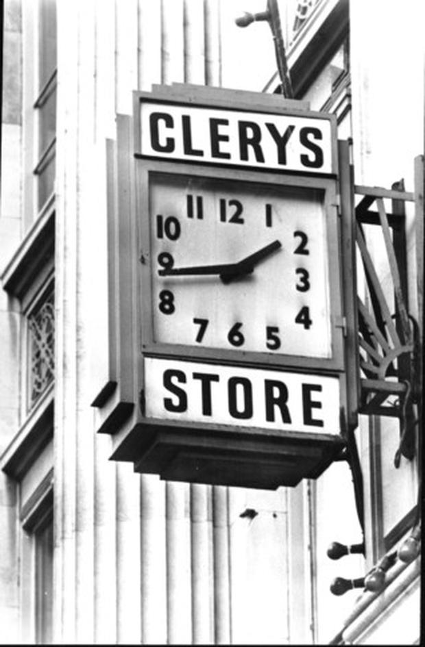 Clerys clock on O'Connell Street