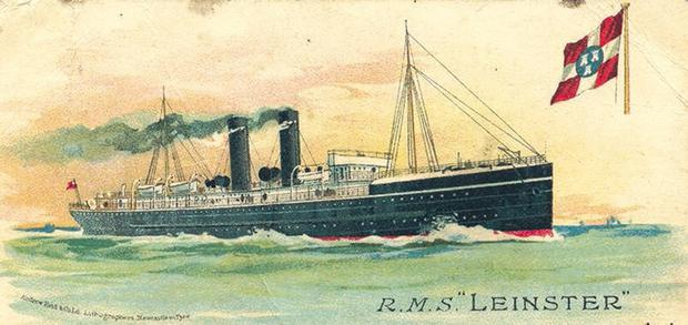 A painting of the RMS Leinster