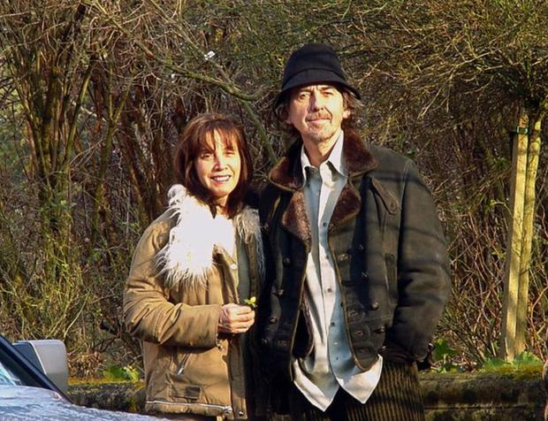 George and his wife Olivia in Ireland in 2001
