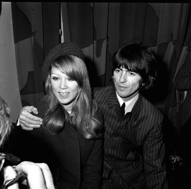 George Harrison with Pattie Boyd in 1966