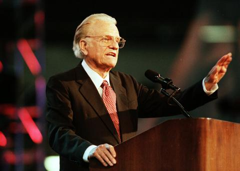 Billy Graham 'probably preached to more people than any other individual in history'. Photo: AP