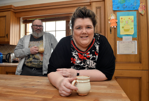 Cup for it: David and Niamh Bonner have fostered children for years. Photo: Ray Ryan