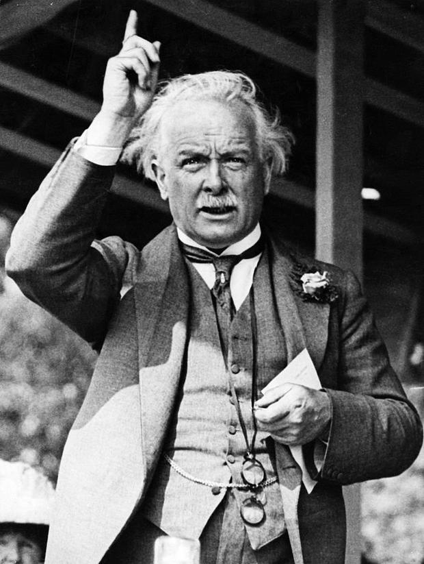 Uproar: British prime minister David Lloyd George gave Sinn Féin a massive shot in the arm in the April before the election by threatening to introduce conscription in Ireland