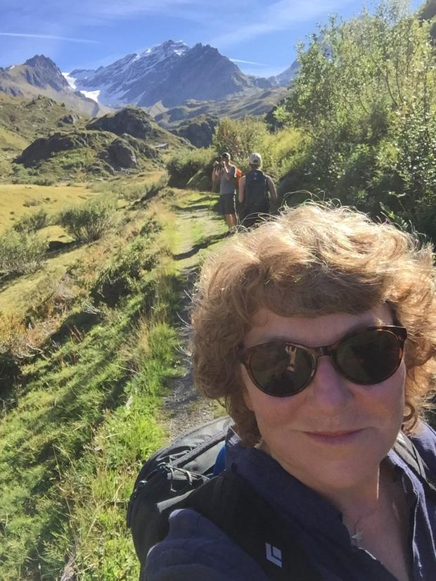 Deborah Spillane takes in the sights from the Alps