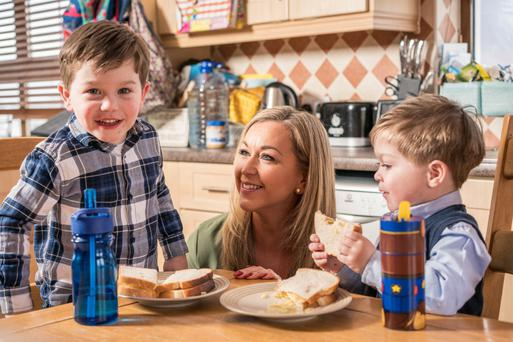 Rare condition: Monica O'Gorman with her sons Caolán (4) and Oisín (3) at their home in Dooagh, Achill Island, Co Mayo. Photo: Keith Heneghan