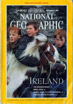 A National Geographic issue from 1994 looking at Ireland