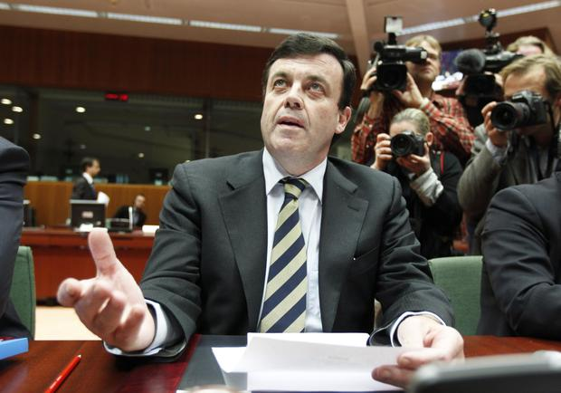 In the spotlight: Brian Lenihan as Finance Minister attends a EU meeting in Brussels on November 28, 2010. Photo: Thierry Roge