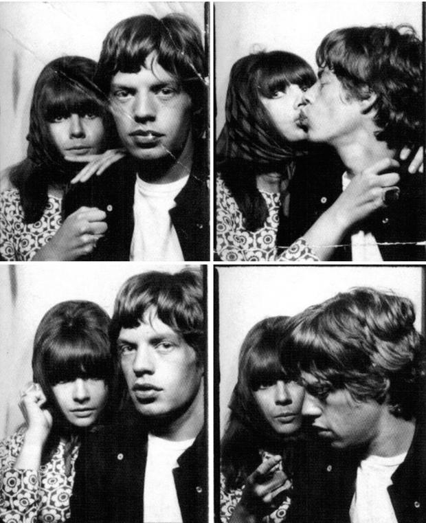 Mick Jagger and Chrissie Shrimpton who were visitors to the stately pile