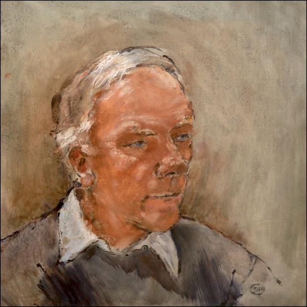 Derek Hill's portrait of Gay Byrne, commissioned by RTE