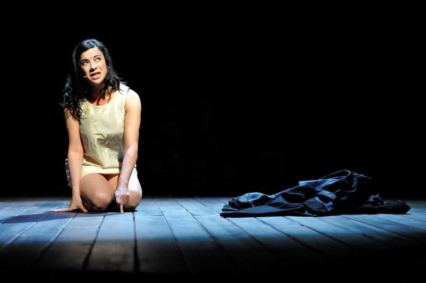 Camille O'Sullivan in the original production of The Rape of Lucrece