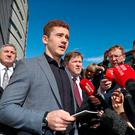 Nine weeks of evidence: Paddy Jackson speaks outside of court after he was found not guilty of rape this week. Photo: Niall Carson/PA Wire