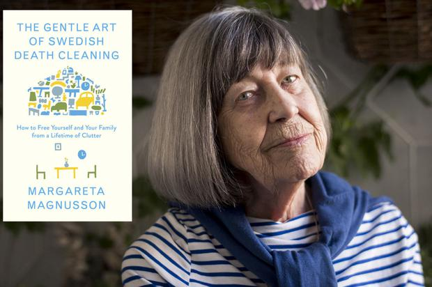 Margareta Magnusson and her recent book, The Gentle Art of Swedish Death Cleaning