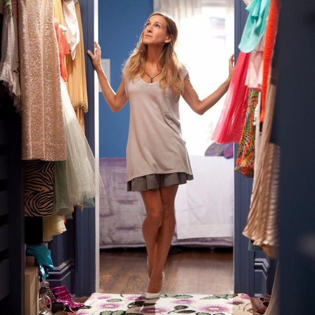A clean break: Carrie clears out her closet in Sex and the City
