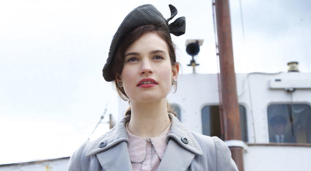 Joining the fight: Lily James stars in The Guernsey Literary and Potato Peel Pie Society