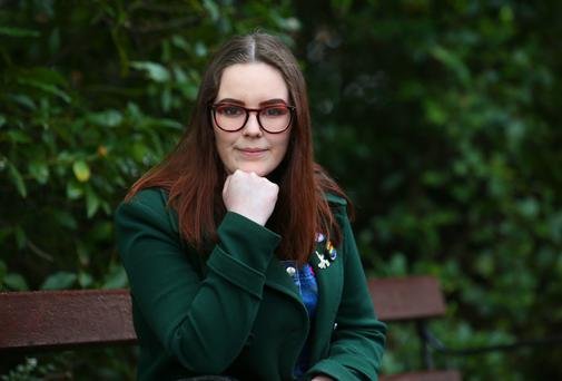 Student Niamh Scully. Photo Damien Eagers