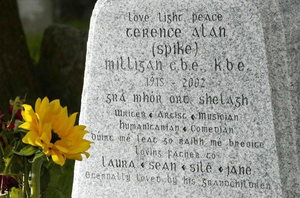 Irish epitaph: Spike Milligan's grave in Sussex, England