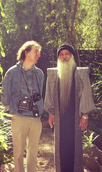 Galway resident Jacques Piraprez Nutan with Bhagwan Shree Rajneesh in India in the 1980s