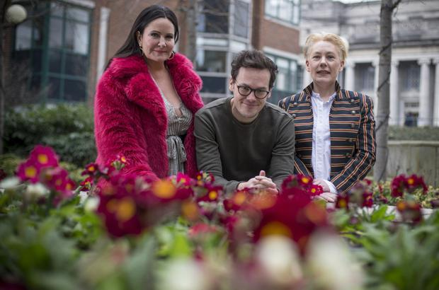 BondingsHermione Ross-Hennessy, Tim Ross and Amber Ross will perform in their dad's honour. Photo: Mark Condren