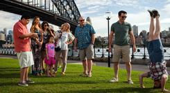 Upside-Down Under: The Pritchets go on vacation together to Australia in Modern Family. Photo: ABC via Getty Images