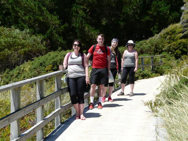 Trip of a lifetime: The Murphys visited their daughter Jennifer in New Zealand